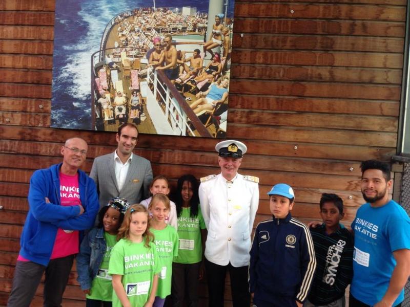Kinderen op het SS Rotterdam