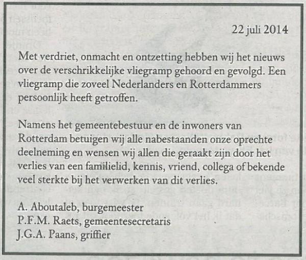 Rouwadvertentie_MH17